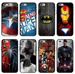 Wholesale superman phone covers - For Iphone X 10 8 7 Plus 6 6S SE 5 5S Coque Siperman Superman Hero Soft TPU Case Iron Man Captain American Gel Silicone Phone Skin Cover