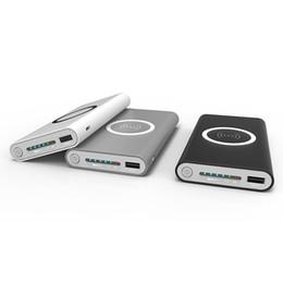 Deutschland 2018 Qi Wireless Ladegerät 10000 mAh Tragbare USB Power Bank Drahtlose Lade-Pad für iPhone X 8 Plus Samsung Note 8 S8 PowerBank Versorgung