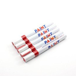 Wholesale Graffiti Marker Pens - Hot Sale 5pcs Red Color Auto Car beauty Graffiti Repaint Tire Paint Marker Pen