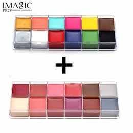 IMAGIC Professional Halloween Party Face Body Painting Body Paint Oil Tattoo Pittura Art Makeup Cosmetic Bodypainting 12 colori cheap professional face painting da pittura professionale del viso fornitori