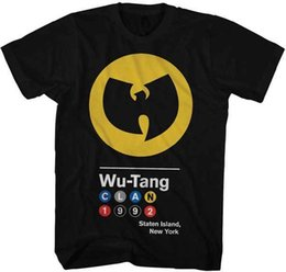 Wholesale official brand - WUTANG CLAN - Circles 1992 Logo - T SHIRT S-M-L-XL-2XL Brand New - Official