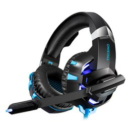 Canada K2A Stéréo Gaming Headset Casque Over Ear Bass Casque avec Lumières LED Microphone pour Xbox One PS4 PC Smartphone cheap over ear headset microphone Offre