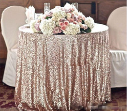 Wholesale girls christmas ideas - Great Gatsby wedding table cloth custom size round and rectangle Add Sparkle with Sequins wedding cake table idea 2017