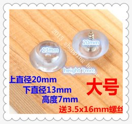 Wholesale Transparent Furniture - 01 Furniture accessories chair table foot set transparent soft plastic anti-skid pad wear pad foot nail chair accessories