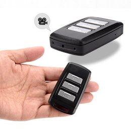 Wholesale Mini Motion Activated Hidden Camera - Hidden Camera Keychain WiFi DVR Recorder 1080P Mini Portable Keyfob IP Camera with Motion Activated and Schedule Recording Car Key Camera