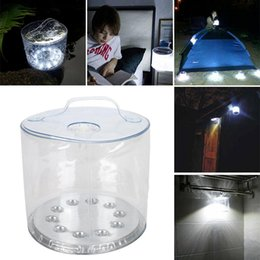 Wholesale Solar Powered Lanterns For Camping - 10 Leds Inflatable Solar powered lamp outdoor waterproof for Garden Camping Emergency LED Lantern night light