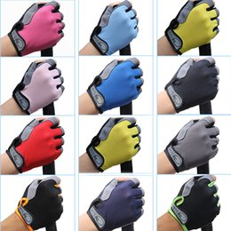Wholesale basketball weights - Outdoor Sports Non-Slip Gloves Men Women Gym Fitness Weight Lifting Workout Jogging Running Exercise Training Fingerless