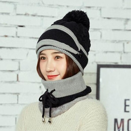 ce9bc29c357675 Seioum Balaclava Men Knitted Hat Scarf Cap Neck Warmer Mask Winter Hats For  Women Skullies Beanies Warm Fleece cap