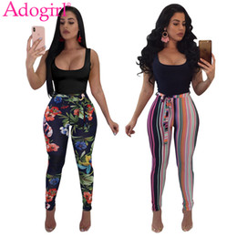 ac28f760058d Adogirl Striped Tropical Floral Print Bandage Jumpsuits 2018 Summer  Sleevelesss Tank Rompers Plus Size Women Skinny Overalls