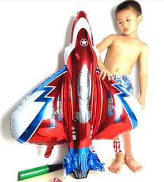 ballons de dessin animé en gros Promotion Dessin animé Unique Combattant Avion Feuille Ballons En Aluminium En Gros enfant ballons décoratifs fête d'anniversaire Feuille Ballons 106 * 94CM