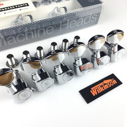 Wholesale Tuning Pegs For Guitar - NEW Wilkinson WJN-05 6R Electric Guitar Machine Heads Tuners Mini Oval Tuner for Silver Tuning Pegs ( With packaging )