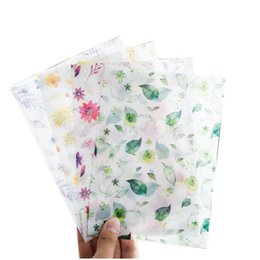 Wholesale Letter Stationary - 5pcs (8x Four Seasons Flowers Translucent Envelope Message Card Letter Stationary Storage Paper Gift)