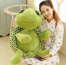 Wholesale Big Plush Turtles - Free Shipping wholesale New 20cm Super Green Big Eyes Stuffed Tortoise Turtle Animal Plush Baby Toy Gift