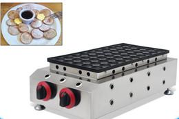 Wholesale Mini Pancakes - Free shipping commercial 50 holes lpg gas dutch pancake machine maker mini poffertjes grill iron baker cooker equipment plate cooking mould
