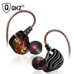 Driver mp3 online-2018 auriculares más nuevos genuinos QKZ KD4 auriculares estéreo de doble controlador con micrófono auriculares para juegos mp3 DJ bajo auriculares