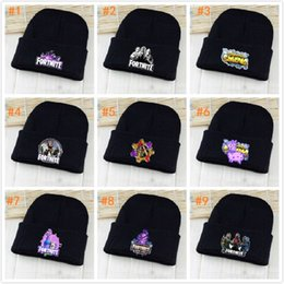 Fortnite Battle Royale Cotton Hats Knitted Hat Hip-Hop Sleeve Cap Costume Accessory Gift Men cap Winter Hats Women Warm Bonnet 9styles