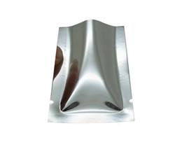 Canada 200pcs / lot sachets d'emballage en plastique argenté en aluminium de feuille d'aluminium supérieure supérieure scellant à chaud le sac d'emballage de stockage de nourriture sacs Offre