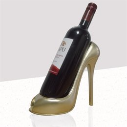 Wholesale High Heels Decorations - Simplified Modernity High Heeled Shoes Red Wine Frame Bardian Home Furnishing Table Ornament Decoration Natural Resin Liquor Shelf 22 9yh Y