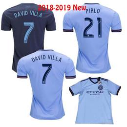 f5472eb3f 2018 Fan version New York City MLS Soccer Jersey Football Shirts 18 19 NYC  Home Pirlo Camiseta de futbol David Villa Maglie. Supplier  shellyzhs. 10%  Off