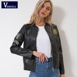 9ec52ba6d476f 2019 ladies leather jacket design Vangull Veste En Cuir Nouvelles Femmes  Automne Hiver Simili Cuir Vestes