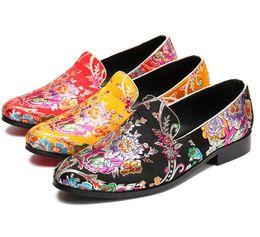 945ccfe1 Hombre perfecto Fiesta zapatos de boda Nacional viento rojo bordado boda  zapatos de cuero masculinos bordado ocio marea zapatos Zapatos de boda38-  g4.32