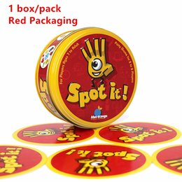 Wholesale Popular Children Toys - The Most popular Children 's Game Spot it! board game party cards For Children Outdoor & Indoor education toys High quality