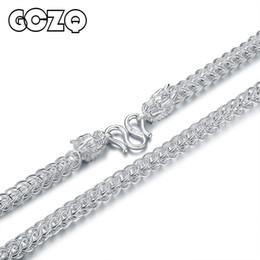 Faucet puro on-line-Gczq 999 padrão 100% pure colar de prata homem colar de prata esterlina homem torneira jóias estilo punk alta qualidade