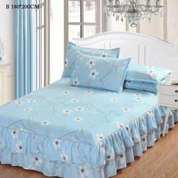 2019 cobertor de coberta contornado Cobertura de cama Árvore Ramo Envoltório Floral Em Torno de Cama Saia colchas para cama colchas 150 * 200 cm e 180 * 200 cm