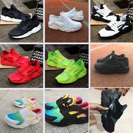 Novos sapatos pretos on-line-2018 Nova Huarache Ultra Running Shoes Huraches Para As Mulheres Dos Homens Preto Branco Vermelho colorido Huaraches Sapatos de Grife Sneakers Athletic Formadores