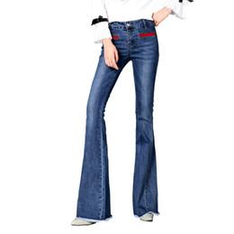 Модные сапоги онлайн-New Autumn High Waist Flare Jeans Pants Plus Size 26-32 Stretch Skinny Jeans Women Wide Leg Slim Hip Denim Boot Cuts