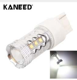 Wholesale Motorcycle Led Brake Light Bulb - T20 T25 80W 16LED Car Foglight Constant Current Auto Accessories For Car Motorcycle Headlights White Light