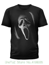 2020 impresión personalizada de tee Scream Mens Black Ghost Face Horror Movie camiseta de alta calidad Custom Impreso Tops Hipster Tees camiseta rebajas impresión personalizada de tee