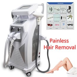 Wholesale Laser Hair Removal Machines Professional - 2018 Newest Multifunction Professional IPL laser RF face lift tattoo hair removal machine E-light OPT SHR RF ND Yag laser IPL CE DHL