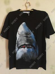 3d animale stampato animale online-stilista marchio di abbigliamento t-shirt uomo tondo stella animale 3D squalo maglietta in cotone donna t-shirt t-shirt top