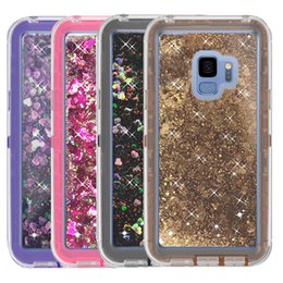 Wholesale Plus Red Roses - For Samsung S9 Plus Liquid Quicksand Case Glitter Bling Back Cover Phone Case for Samsung Galaxy S9 S9plus