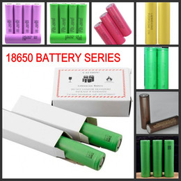 Wholesale ecigs batteries - High Quality 18650 Battery HG2 HE2 HE4 2500MAH Rechargable Lithium Batteries for LG Cells Fit Ecigs Vaporizer Vape box mod