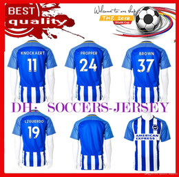 Wholesale Customized Rugby Jersey - new top Thai quality 17 18 Brighton footba jerseys 17 18 Brighton & Hove Albion home away football shirts Customize name number uniforms