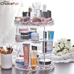 2019 rendere organizzatore di trucco acrilico Rotating Clear Make Up Supporto per il trucco Organizador De Maquillaje Bagno in acrilico Bagno Makeup Organizer per cosmetici rendere organizzatore di trucco acrilico economici