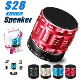 Wholesale Mp3 Player Portable Speaker Box - Portable Wireless Bluetooth Speaker S28 with Built in Mic TF Card Handsfree Mini Speaker with Retail Box