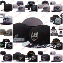 94173e9bcf51a Los Angeles Kings Snapback Caps Embroidery Ice Hockey Knit Beanies  Adjustable Hat Black Gray White Stitched Hats One Size for All