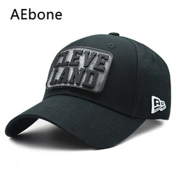 2662faff58de8 Chinese AEbone Removable Letter Mark Cleve Land Baseball Cap Fancy Caps  Adjustable Novelty Sun Hat For