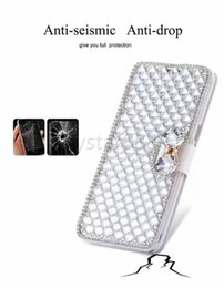 Wholesale 5s battery case - Luxury Bling Rhinestone Diamond PU Wallet Flip Leather Cover Case For Samsung S9 Plus S7 Edge iPhone X 8 plus 6 6s Plus 5s se