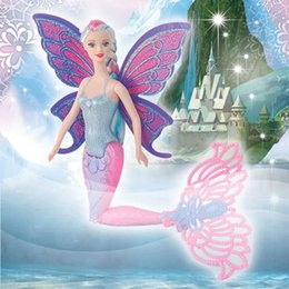 Wholesale Wholesale Mermaid Dolls - 15Inch Fashion Swimming Mermaid Doll Moxie Girls Magic Classic Mermaid Doll With Butterfly Wing Toy For Girl's Birthday Gifts