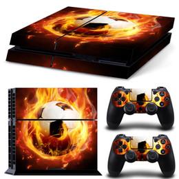 кожаный винил ps4 Скидка Футбольный дизайн обложки виниловой кожи для консоли PS4 Playstation 4