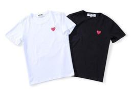 Marcas de camisetas japonesas online-Marca japonesa moda amor corazón camiseta manga corta T manga corta T primavera verano manga corta camiseta de los hombres