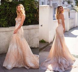 robes de mariée en tulle scintillent Promotion Paillettes champagne paillettes robes de mariée sirène 2019 sweetheart dos nu longues robes de mariée de luxe robe