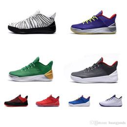 new style 179ca 1a8af Cheap Mens Kobe AD 12 low basketball shoes ID Zebra Green Blue Grey Red KB  XII elite air flights sneakers boots tennis with box wholesale