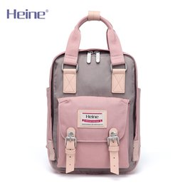 Wholesale Bag Maternal - Heine fashion mummy bag double shoulder bag trumpet portable multi-functional small Diaper Bags maternal and child bag