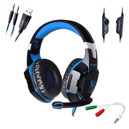 Wholesale Best Mic Headset - Computer Stereo Gaming Headphones Kotion EACH G2000 Best casque Deep Bass Game Earphone Headset with Mic LED Light for PC Gamer