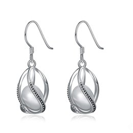 Wholesale 925 silver materials - Trendy Jewelry 925 Sterling Silver Material Earrings Retro Processing Shell Pearls Charms Imitation Pearl Earrings Drop Earring